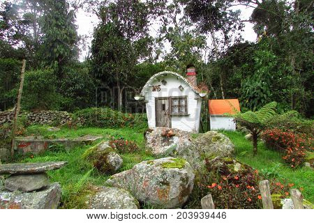 nice small house located in the forest