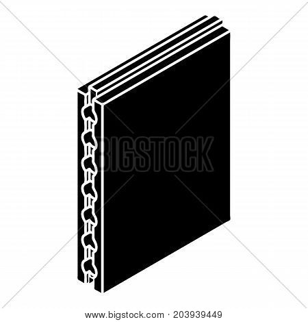 Sandwich panel icon. Simple illustration of sandwich panel vector icon for web design isolated on white background