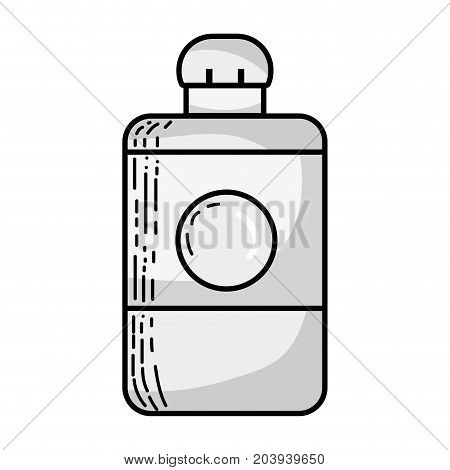 grayscale delicious and fresh drink bottle beverage vector illustration