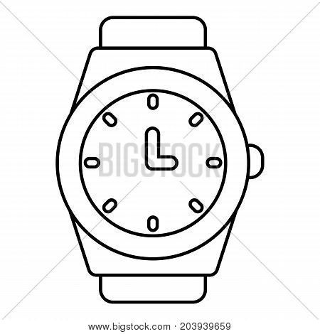 Wristwatch icon. Outline illustration of wristwatch vector icon for web design isolated on white background
