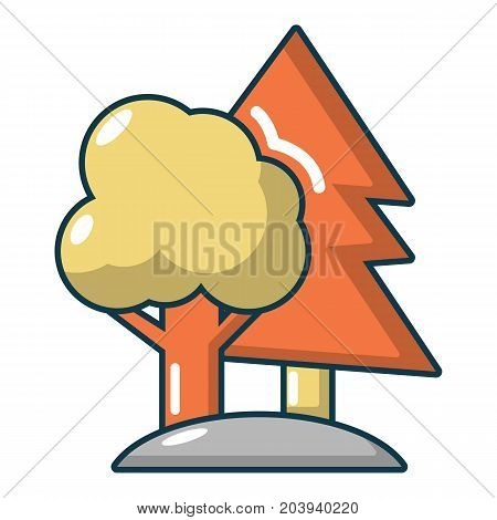 Paintball playing field icon. Cartoon illustration of paintball playing field vector icon for web
