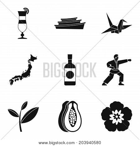 Assimilation in asia icons set. Simple set of 9 assimilation in asia vector icons for web isolated on white background