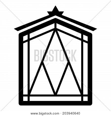 Fairy window frame icon. Simple illustration of fairy window frame vector icon for web