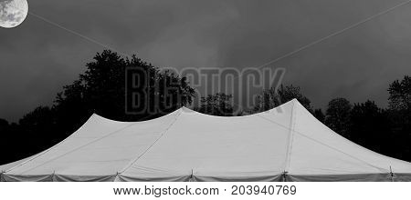 white events tent at night (some elements courtesy of nasa)
