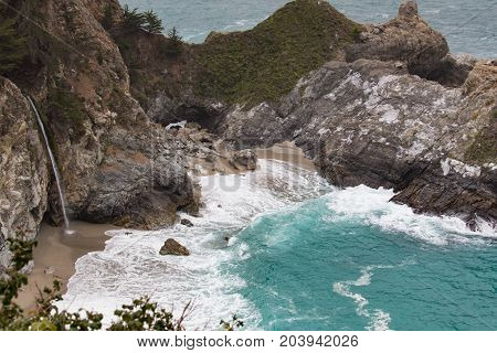 Mc Way Wasserfall Route 1 Westküste USA