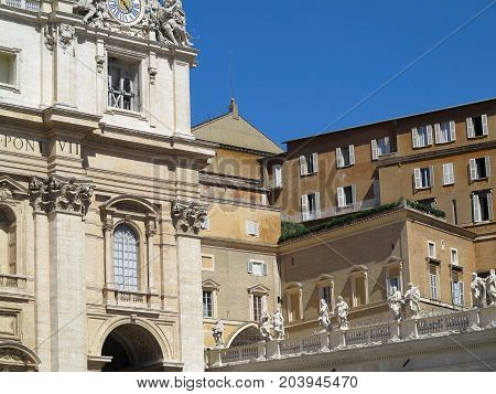 19.06.2017 Vatican city Roma Italy: Famous architecture of Saint Peter`s square.