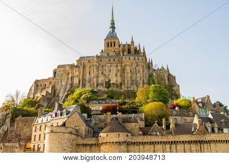 Le Mont-Saint-Michel off the country's northwestern coast at the mouth of the Couesnon River near Avranches in Normandy France