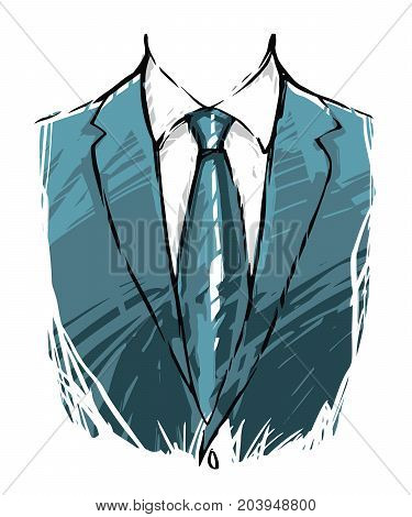 A casual suit for businessman in illustration vector painting sketch art style.