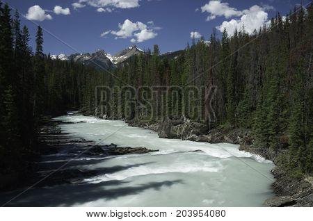 Natural Bridge Kicking Horse River in Yoho National Park British Columbia Canada
