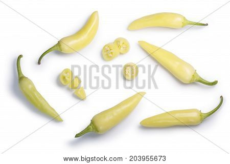 Banana Peppers C. Annuum, Top View, Paths