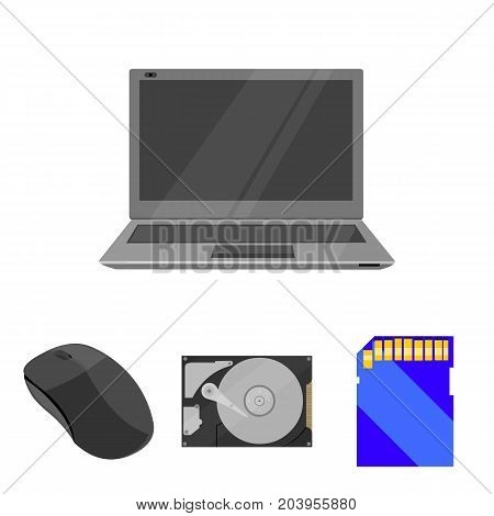 Computer mouse, laptop and other equipment. Personal computervset collection icons in cartoon style vector symbol stock illustration .