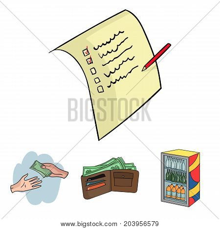 Purchase, goods, shopping, showcase .Supermarket set collection icons in cartoon style vector symbol stock illustration .