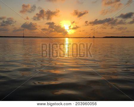 A beautiful sunset off the Florida Keys. Photo taken April 2016.