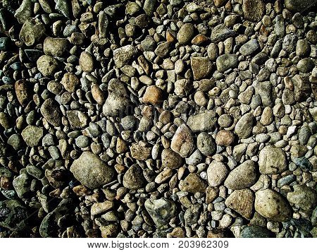 Stone background. Pebble stone texture. Stones texture and background