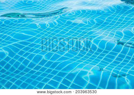 Blue Ripped Water In Swimming Pool,malaysia.
