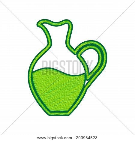 Amphora sign. Vector. Lemon scribble icon on white background. Isolated