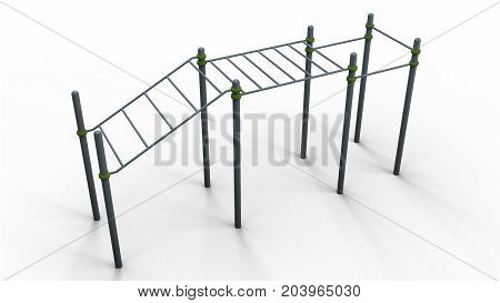 street sport rack complex 5 isolated on a white background 3d illustration render