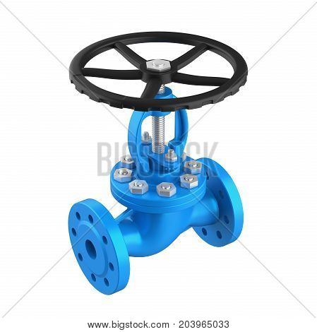 Industrial Valve isolated on white background. 3D render