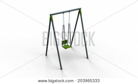 swing isolated on white background 3d illustration render