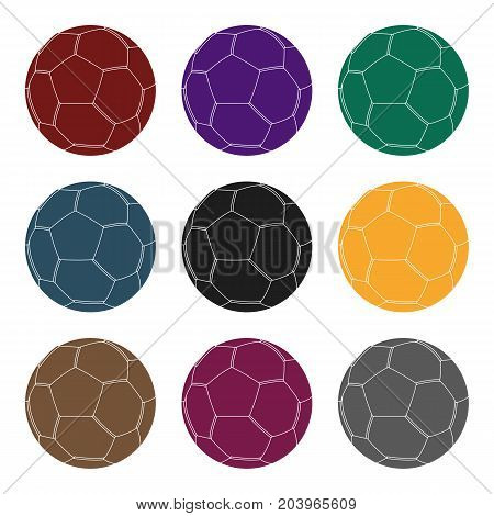 Green soccer ball icon in black design isolated on white background. Brazil country symbol stock vector illustration.