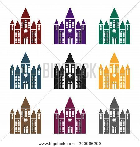 Church icon in black style isolated on white background. Building symbol vector illustration.