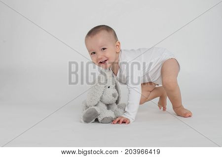 Baby On A White Background