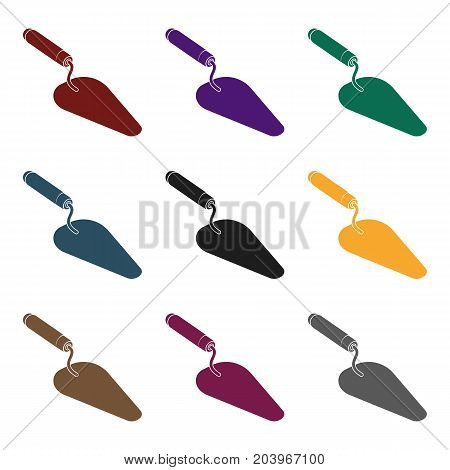 Trowel icon in black style isolated on white background. Build and repair symbol vector illustration.