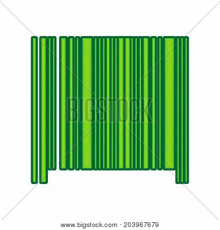 Bar code sign. Vector. Lemon scribble icon on white background. Isolated