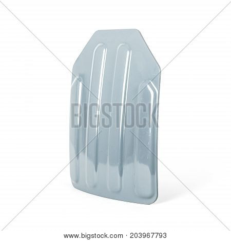 bulletproof plastic protector, body armor covers, On white backgroud.