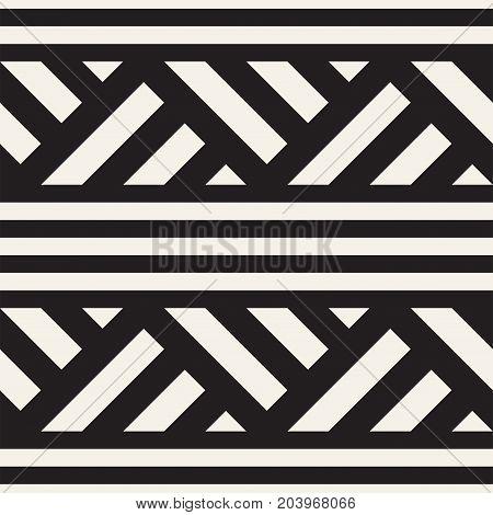 Repeating Slanted Stripes Modern Texture. Simple Regular Background. Monochrome Geometric Seamless Pattern.