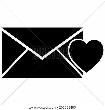 Love Letter and Heart Icon Envelope Heart Shape Admiration