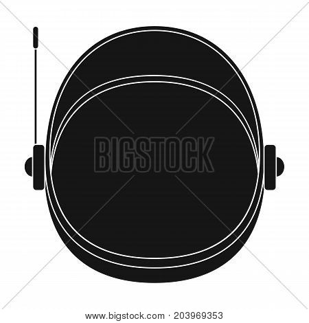 Protective helmet cosmonaut. Space technology single icon in black style vector symbol stock illustration .