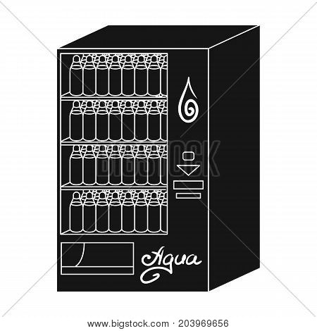 Terminal for the sale of bottled water. Terminals single icon in black style isometric vector symbol stock illustration .