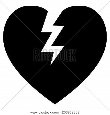 Heartbreak Icon Broken Heart Blue Circle Composition