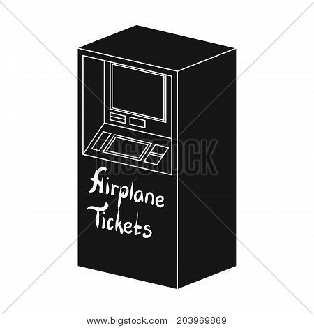 Terminal for aviation tickets. Terminals single icon in black style isometric vector symbol stock illustration .