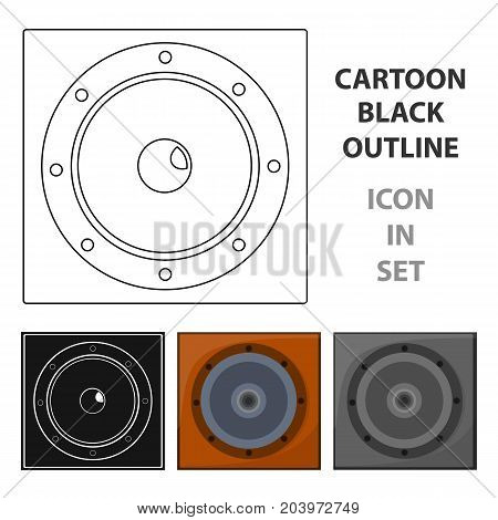 Load speaker icon in cartoon design isolated on white background. Pub symbol stock vector illustration.