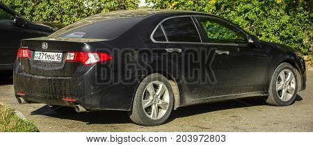 Kazakhstan, Ust-Kamenogorsk, september 9, 2017: Honda Accord 8, back view