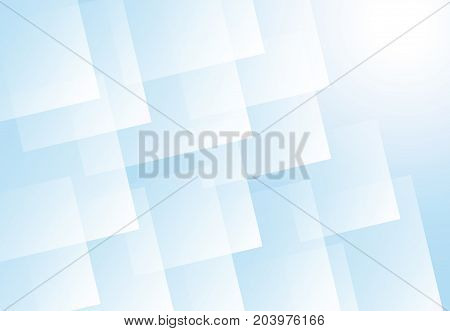 Abstract light blue square futuristic overlap layer background. vector illustration