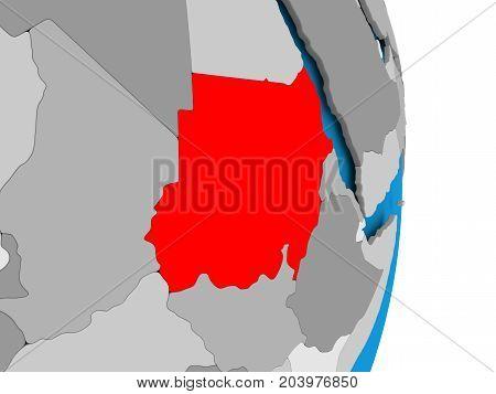 Sudan On Globe