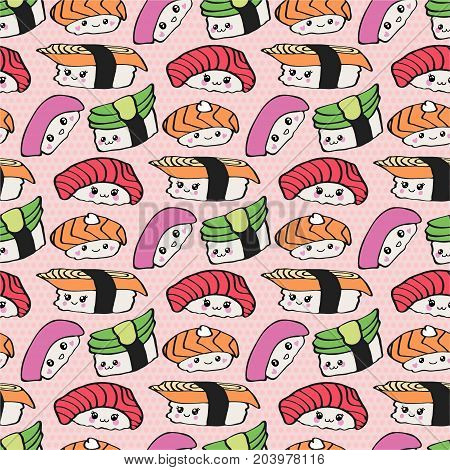 Kawaii Sushi Vector Vector Photo Free Trial Bigstock