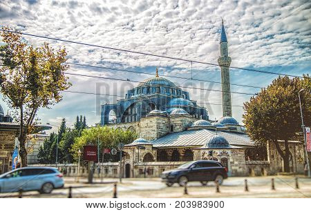 ISTANBUL TURKEY: Kilic Ali Pasa Mosque Tophane Beyoglu district. This mosque was built by Mimar Sinan in 1560 on October 7 2014
