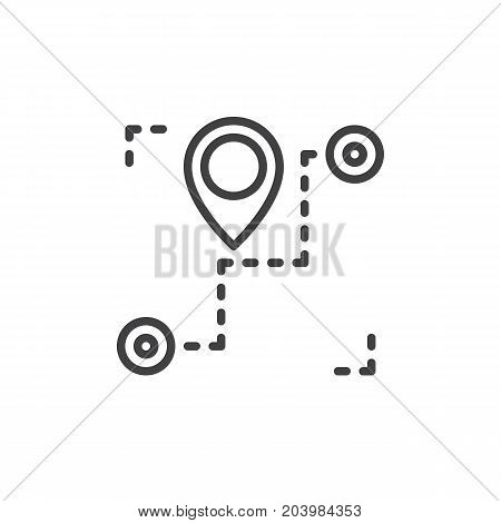 Track order line icon, outline vector sign, linear style pictogram isolated on white. Shipment tracking symbol, logo illustration. Editable stroke. Pixel perfect vector graphics