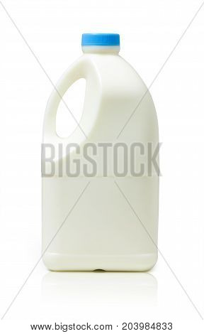 Gallon of Milk on white background, healthy drink
