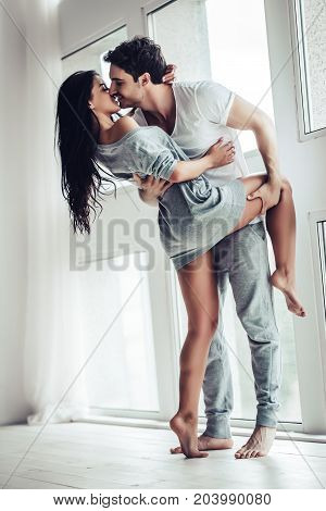 Love Couple At Home