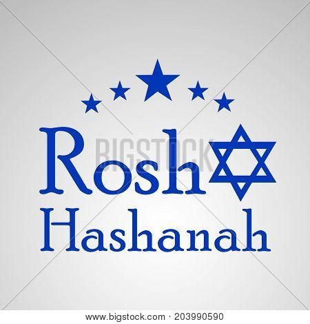 illustration of stars with Rosh Hashanah text on the occasion of Jewish New Year Shanah Tovah