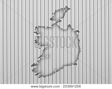 Map Of Ireland On Corrugated Iron