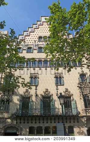 The Casa Ametller, A Modernist Building Designed By  Josep Puig I Cadafalch In Barcelona, Spain