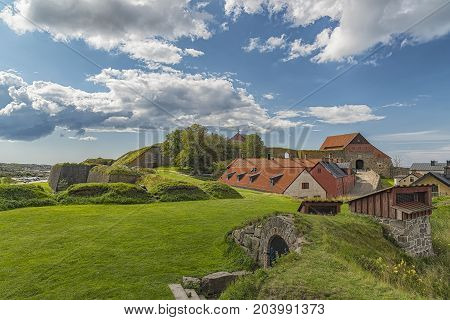 Varberg Fortress is a former fortification in Varberg Halland County Sweden.