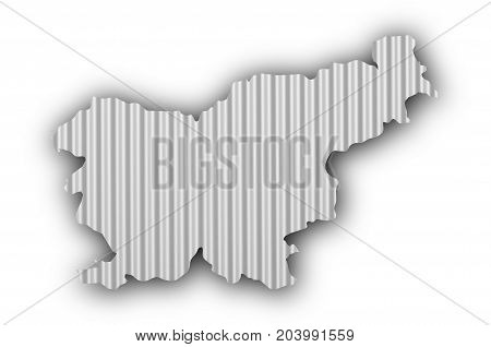 Map Of Slovenia On Corrugated Iron