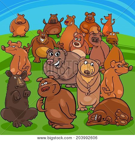 Cartoon Bears Animal Characters